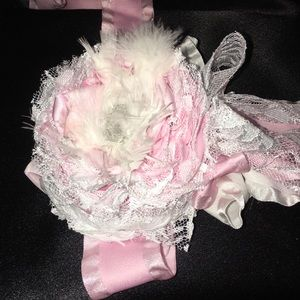 Other - Shaggy chic blooming rose headband